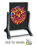 Swinger Blank Black Sidewalk Sign