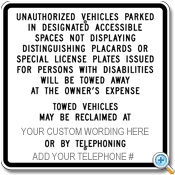 Reserved Parking - California State Specifications
